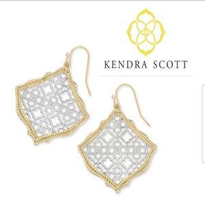■Kendra Scott■ Two Tone Kirsten Filigree Earrings